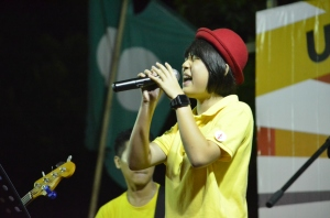 DAP band at Rock the Vote shares stage with PAS band