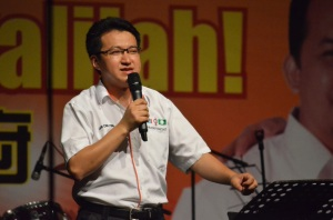 Liew Chin Tong at final rally
