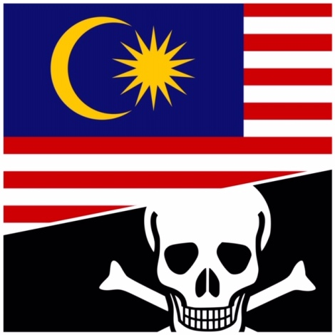 Flying the Jalur Gemilang again, and not the JollyRoger